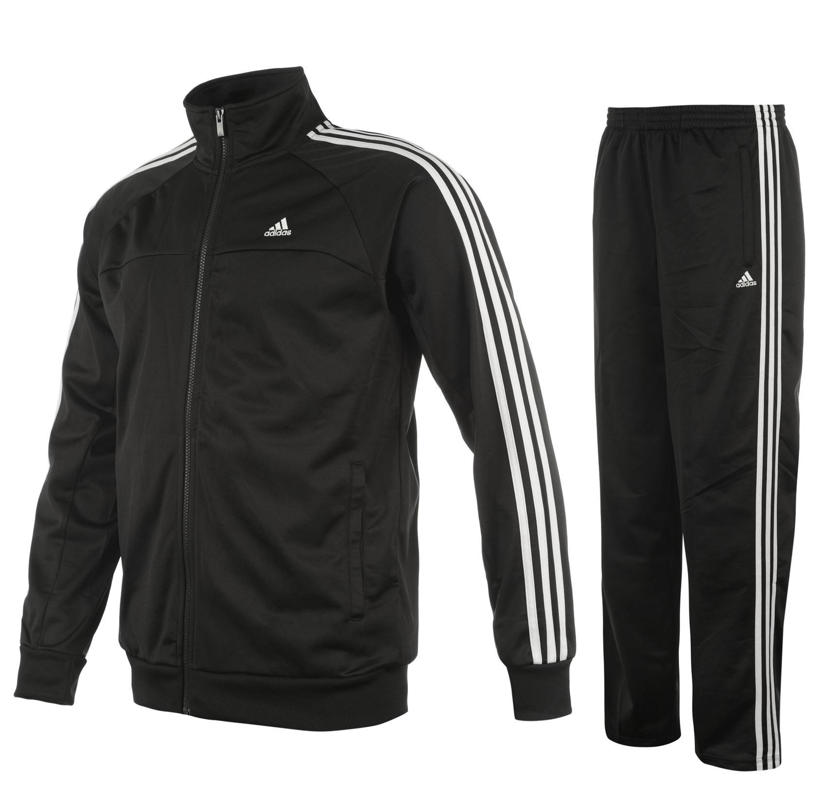 adidas 3 streifen herren trainingsanzug essentials. Black Bedroom Furniture Sets. Home Design Ideas