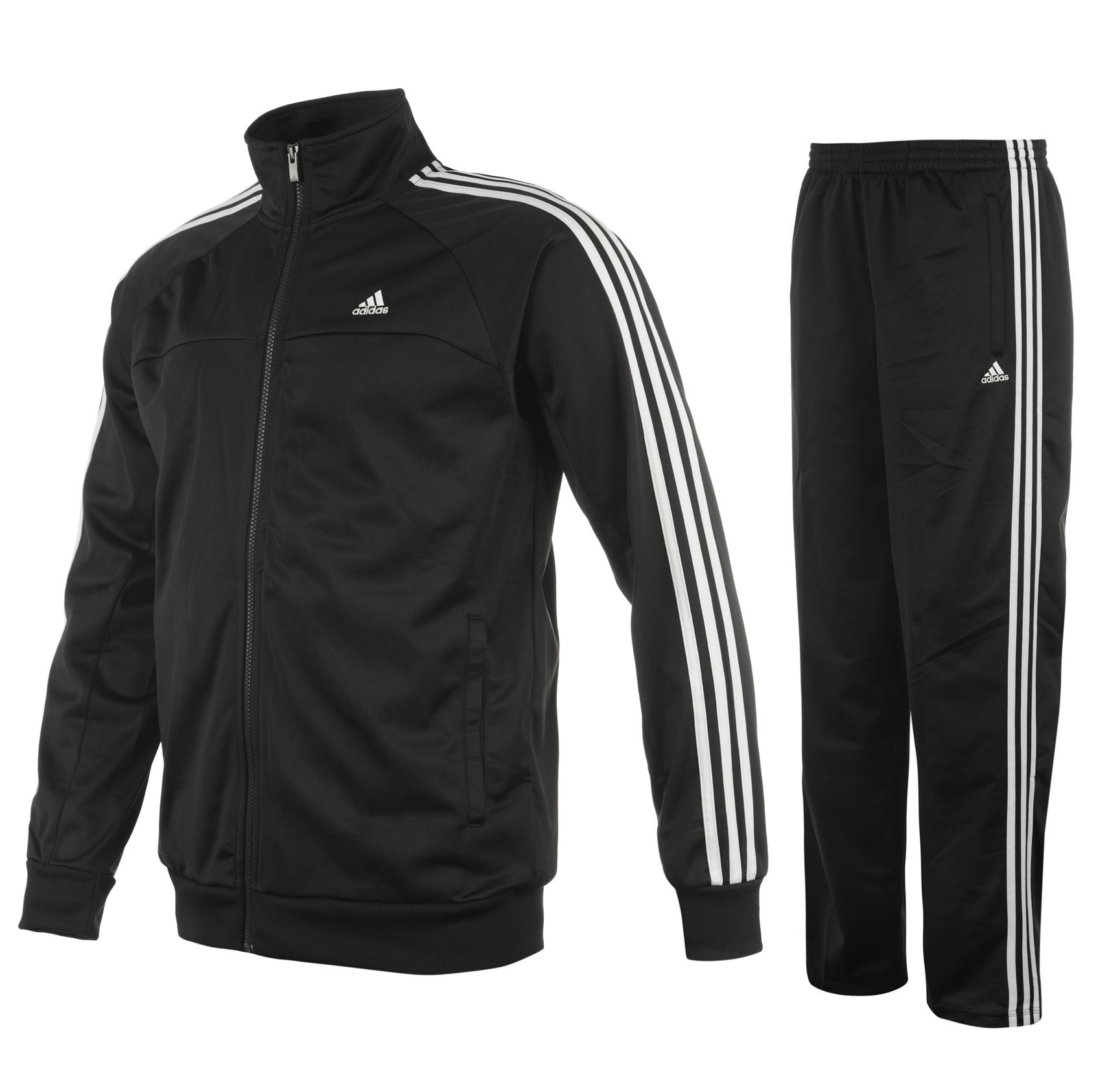 adidas 3 streifen herren trainingsanzug essentials climalite schwarz neu s 4xl ebay. Black Bedroom Furniture Sets. Home Design Ideas